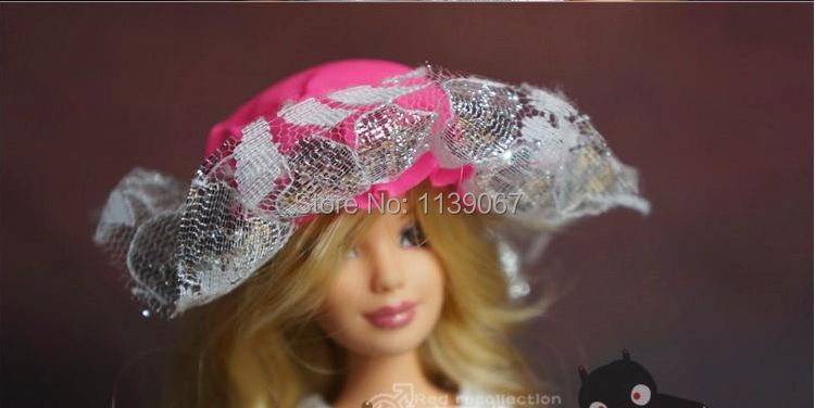 10pcs/lot Doll Hats Combine Kinds Style Peaked Cap DIY Equipment For Barbie Kurhn Doll Present Child Toy