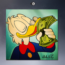 LOVE WITH MONEY Alec monopoly wall street arts canvas print POP ART Giclee poster print on canvas for wall decoration painting(China (Mainland))