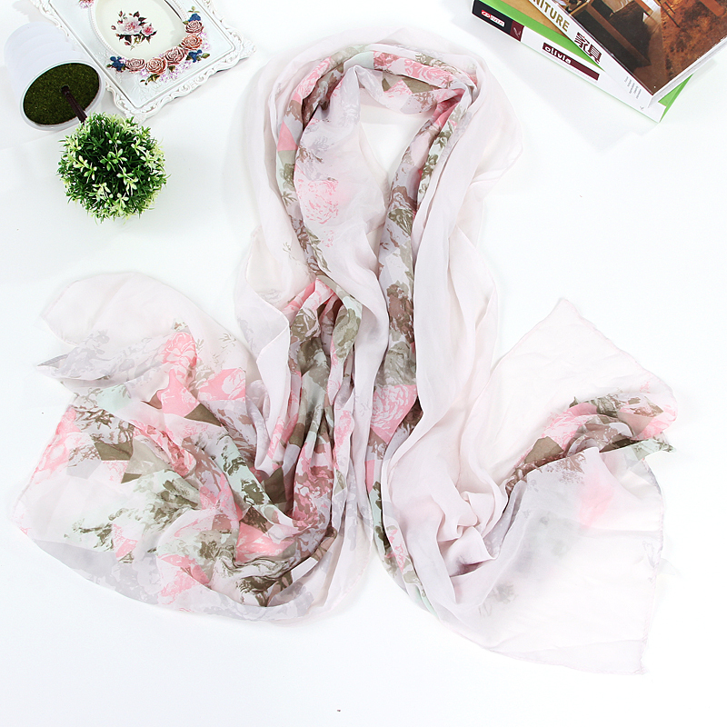 Fashion Summer Brand Women Floral Butterfly Printed Chiffon Scarf Beach Multifunctional Bandana Hijab Long Shawls and