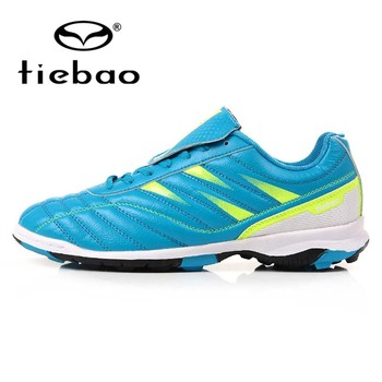 TIEBAO Brand Men Football Shoes Unisex Soccer Boot for Teenagers Adult Women TF Turf Rubber Sole Shoes zapatos de futbol