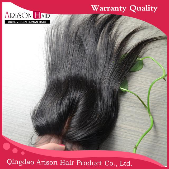 "(Widows peak) 100 HAND TIDE INVISIBLE KONTS SILK BASE brazilian virgin hair lace closure 4""x4"""