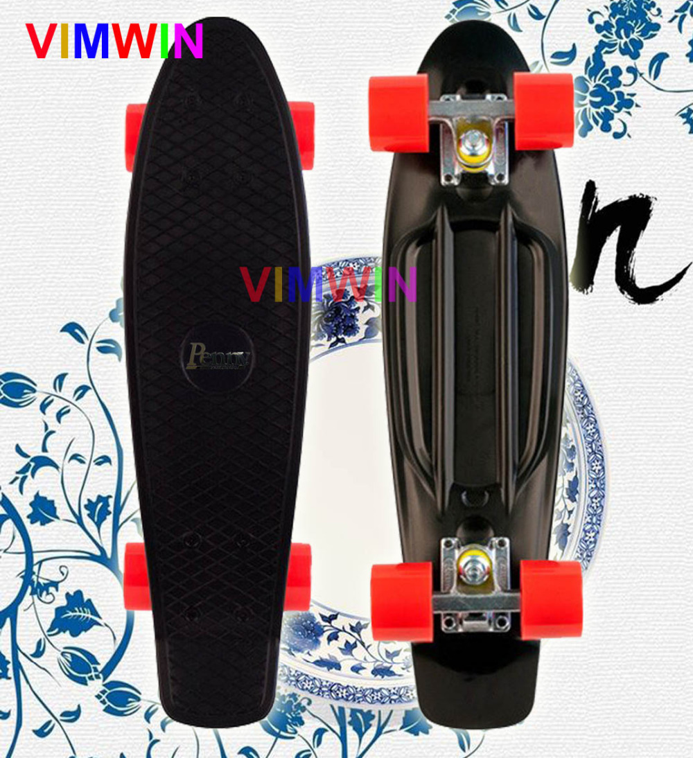 22 inch Original Penny Logo on board Cruiser Skateboard Black Deck with Red wheels(China (Mainland))