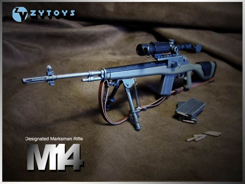 ZY Toys 1:6 ABS Gun Model Designated Marksman Sniper Rifle M14 for Soldier Figure Accessory Collections(China (Mainland))