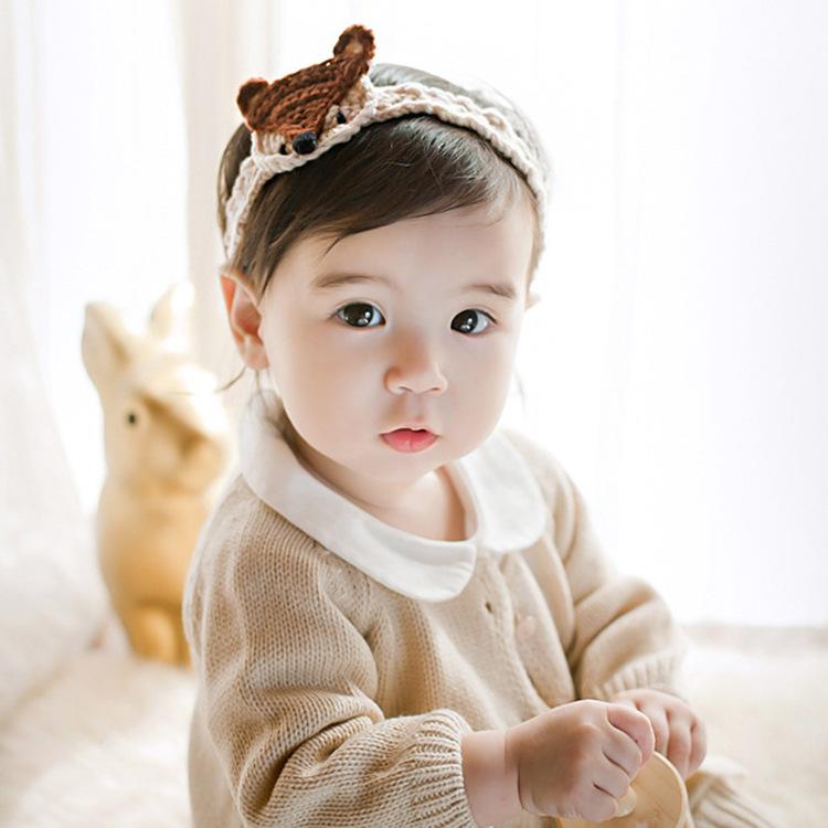New Glitter Fox Knit Crochet Cute Girls Bow Woodland Fall Cartoon Fox Headband Hair Clip Fashion Trendy Baby Barrette Headbands(China (Mainland))
