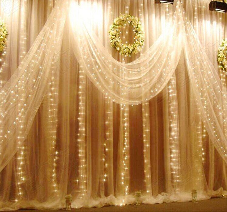 400LED Curtain lights for wedding Icicle LED String Fairy Light christmas party home decoration lamp 2m*2m 220V 110V Free shipp(China (Mainland))