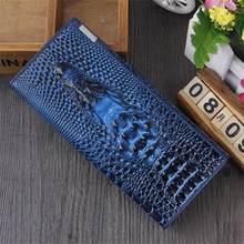Genuine Leather Women Wallets Hasp women's Purse Alligators Cowhide Card holder Ladies Clutch Bag Coin purses female wallet 2019(China)