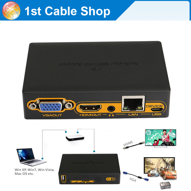 buy hdmi wifi transmitter wireless wifi pc to hdmi vga hdtv converter. Black Bedroom Furniture Sets. Home Design Ideas