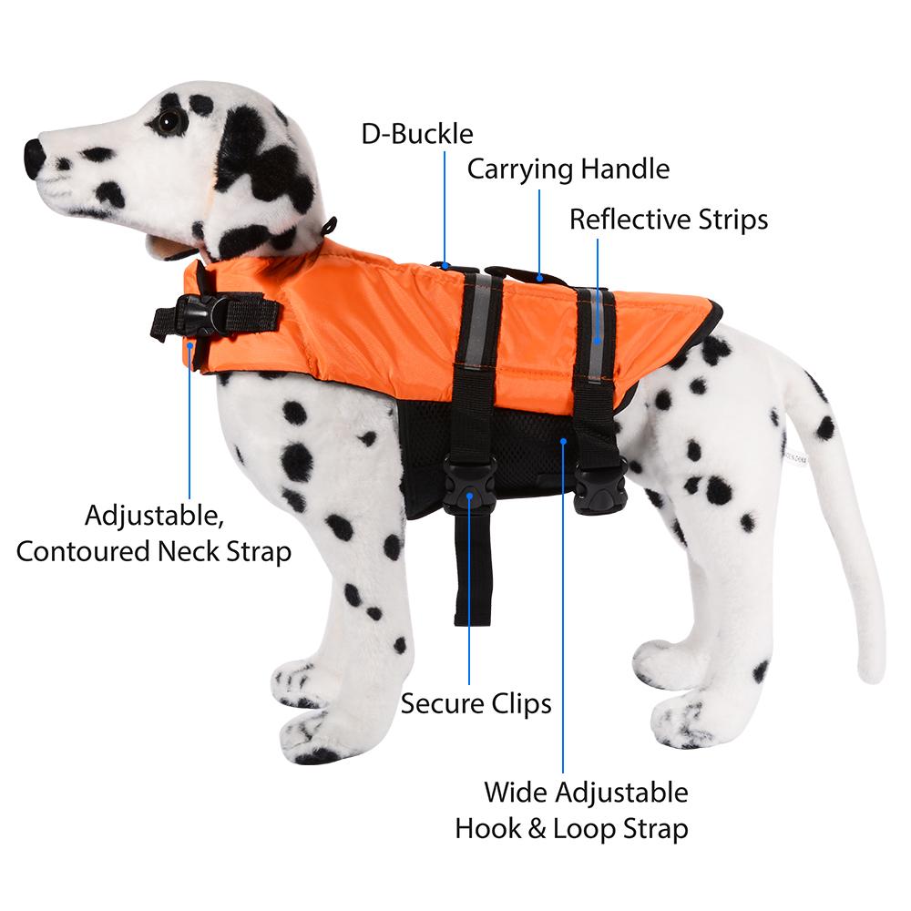 Pet Dog Life Jacket Swimming Coat