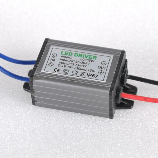 3-5W LED Driver Power Supply Waterproof IP67 Constant Current AC100-260V 300mA For 3-5W LED Bulb(China (Mainland))