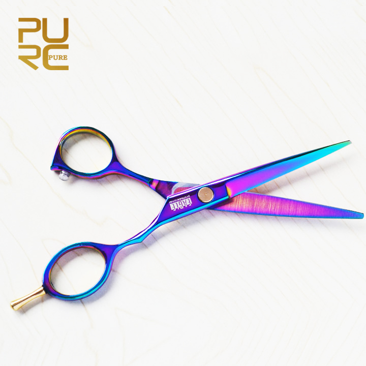 3.29 New arrive Purple titanium 6.0 inch high quality hairdresser shear Free Shipping hair salon product hot sale hair scissors(China (Mainland))