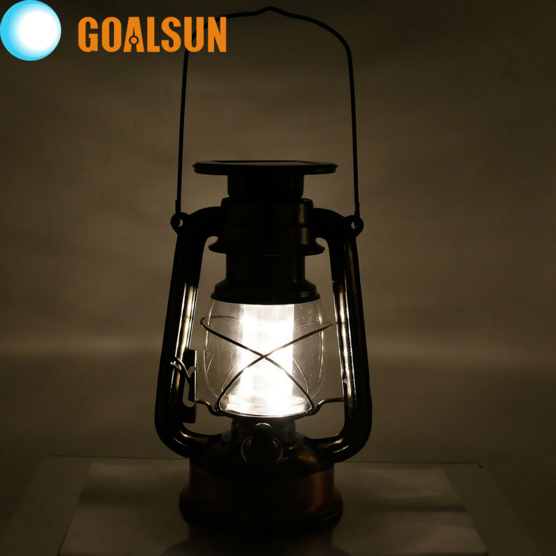 Solar powered Portable Dimmable Led Baron Lantern Emergency Indoor/outdoor table/wall Night Light(China (Mainland))