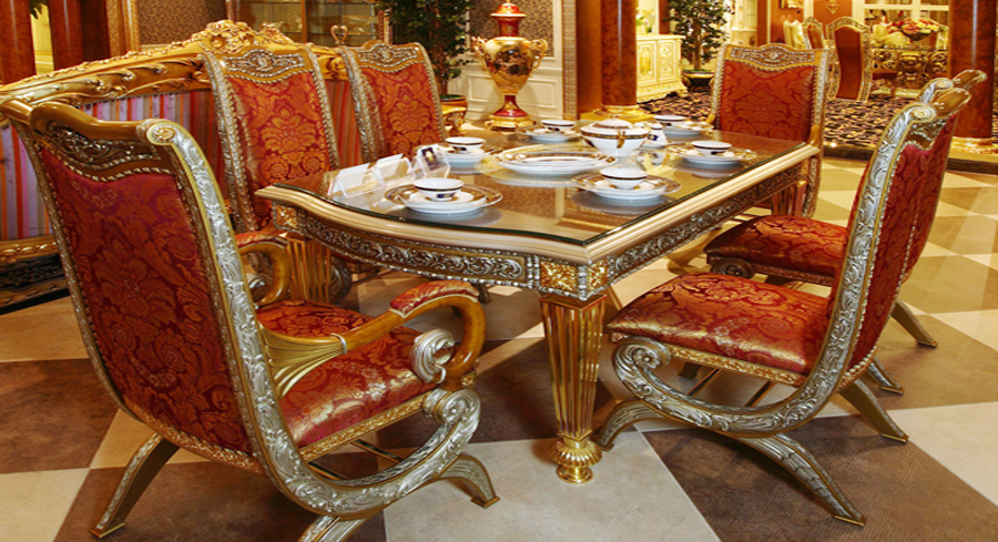 excellent quality European style woodcarving rectangular dining table(China (Mainland))