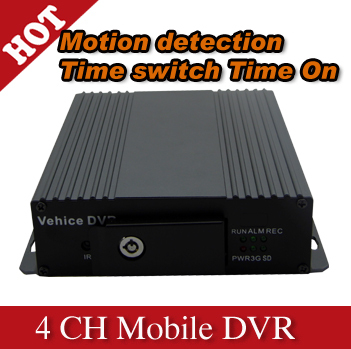 4 Channel SD card hd Mobile DVR car DVR with cheaper price and good quality - H600(China (Mainland))