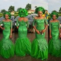 Blight Green Nigeria Mermaid Long Gowns Flower Lace Half Sleeve Evening Dresses Beads Long Dress To