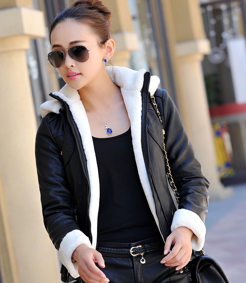 Popular Womens Hooded Leather Jacket-Buy Cheap Womens Hooded