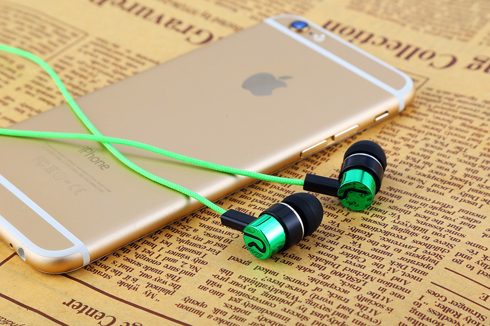 New Fashion Woven Fiber Cloth Wire Earphone ln-Ear Noise Isolution Headset Universal 3.5MM Earphones for Mobile Phone PC MP3