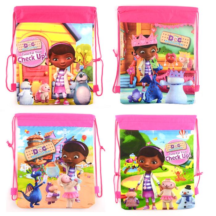 Гаджет  1pic Doc Mcstuffins School Bags Doc Mcstuffins Drawstring Backpacks& Bag For Kids Cute Cartoon School Bags For Kids None Камера и Сумки