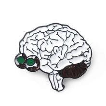 Organi umani Spilli Brooces Anatomico Del Cervello Neurologia Cuore Polmone Distintivo Spilla per Le Donne Degli Uomini del Risvolto Spille Gioielli(China)