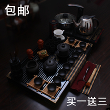 Yixing tea set ceramic kung fu tea set electromagnetic furnace solid wood tea tray