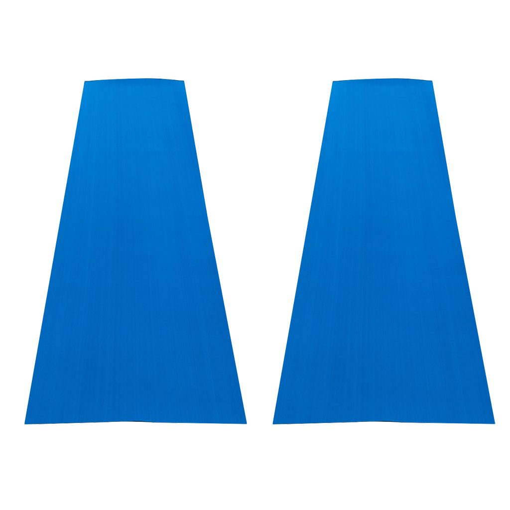 2 Pieces Boat Teak Decking Sheet Marine Yacht Swimming Pool Pad Anti-slip Blue