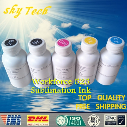 Free shipping ! Sublimation ink suit for Epson T1381 T1381 T1382 T1383 T1384 , suit for  Epson Workforce 525 ,5pcs/lot