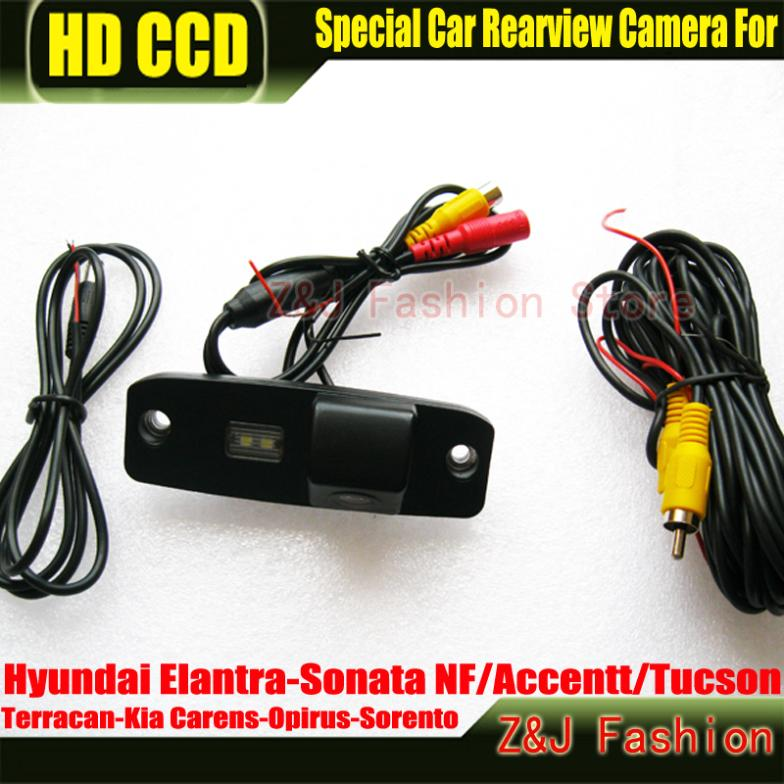 New HD CCD Car Rear view Camera rearview reverse for Hyundai Elantra/Sonata NF/Accentt/Tucson/Terracan/Kia Carens/Opirus/Sorento(China (Mainland))