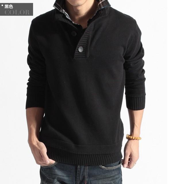 2016 мода мужские свитера с длинным рукавом зимний трикотажные свитера свободного ...
