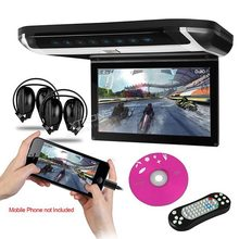 10'' Super Slim High Definition HD Car Roof DVD Monitor,built-in HDMI Port Touch Botton Blue LCD Light Game DVD USB SD FM/IR(China (Mainland))