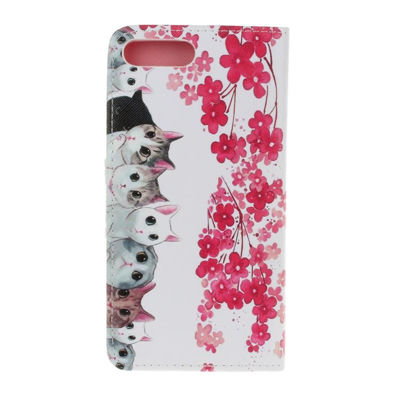 Luxury Cartoon Butterfly Flower Cat Leather Flip Fundas Case For Apple Iphone 5 5s SE 6 6s 6plus 6s Plus 7 7plus 7 Plus Cover