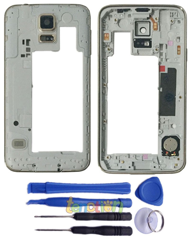 Genuine Gold Rear Housing Middle Frame Bezel Shell Plate for Samsung Galaxy S5 G900T i9600 Verizon G900V Sprint G900P AT&T G900A(China (Mainland))