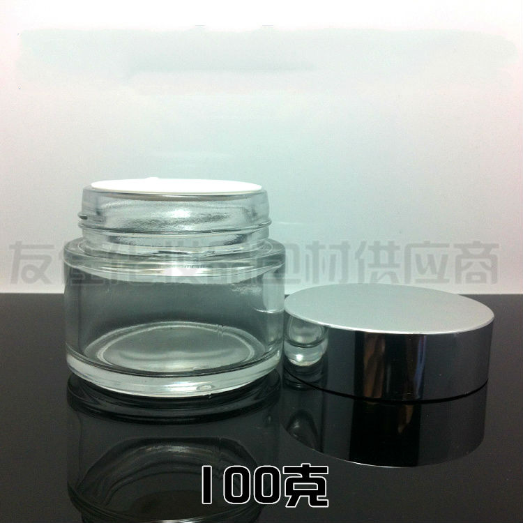 50pieces/lot,100g clear cream jar,cosmetic jar,glass jar or cream container,eye cream jar<br><br>Aliexpress