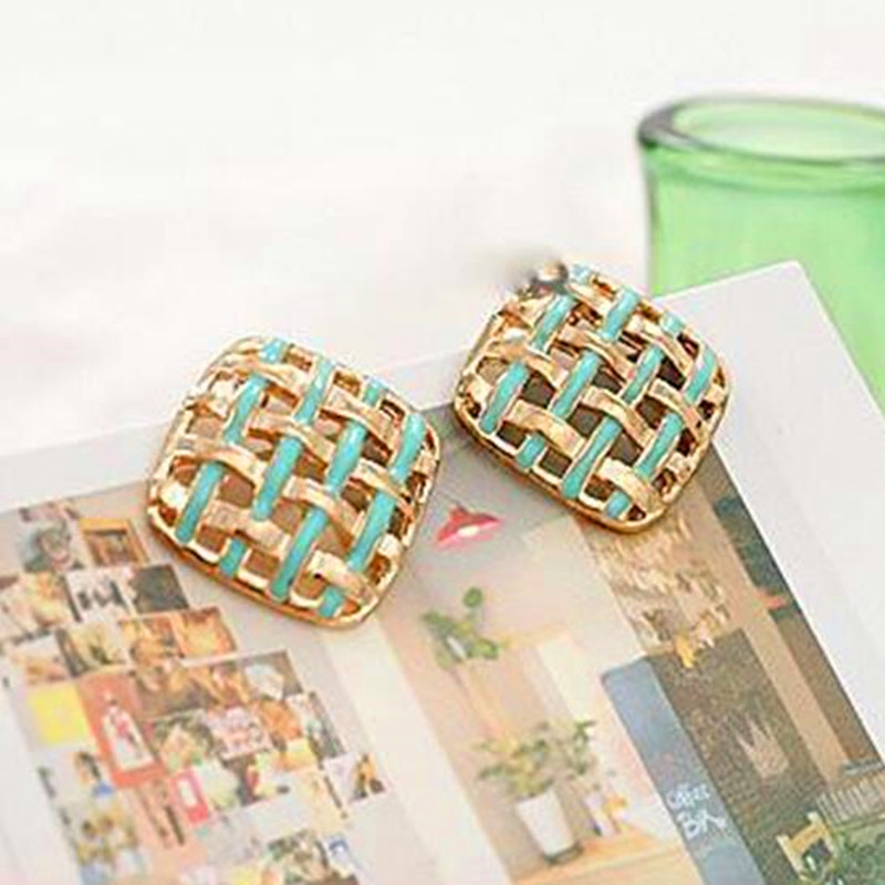 The mixed group fashion / pop / Leisure alloy hollow mesh star earrings (Free Shipping)(China (Mainland))