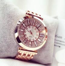 2016 brand Fashion Women Watches High Quality Austrian Diamond Women Rhinestone Watches, Rose Gold Woman Lady Dress Watch Clocks