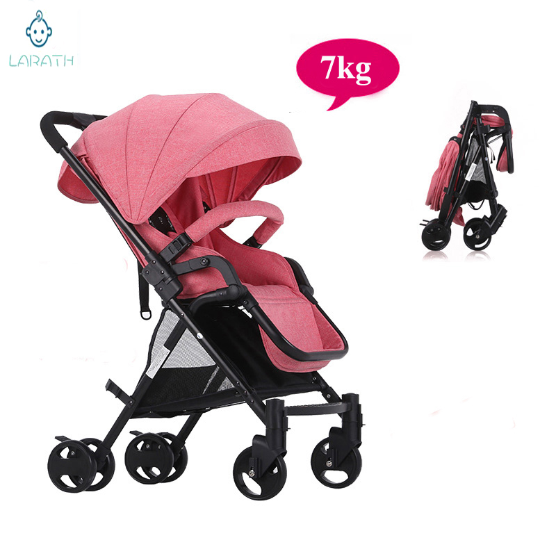 Free Shipping Portable Baby Stroller Ultra Portable Folding Four Wheel Suspension Travel Stroller High Landscape trolley(China (Mainland))