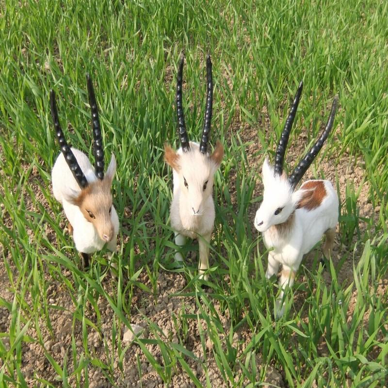 Simulation goat simulation fur animal crafts home furnishing articles Model window display - HongYI store