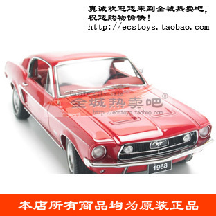 Car model aotuo FORD mustang gt 390 red
