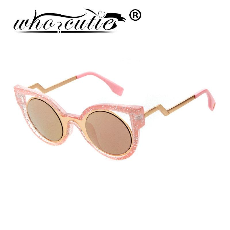 WHO CUTIE Newest Popular Brand Women Sunglasses Cara Delevingne Model Sunglass Cateye Composite Oculos De Sol Feminino 2016(China (Mainland))