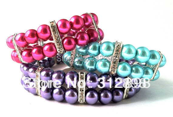 Red/Purple/Blue Rhinestone Bling Pearl Princess Pet Dog Necklace For Puppy 0521 Chihuahua Yorkie Cat Jewelry Accessories Goods(China (Mainland))
