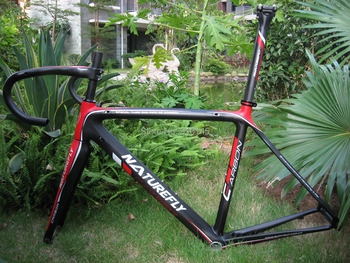 NEW ARRIVAL ! Free Shipping !! 2015 New Lighter Carbon Road Frame Red/Black/White