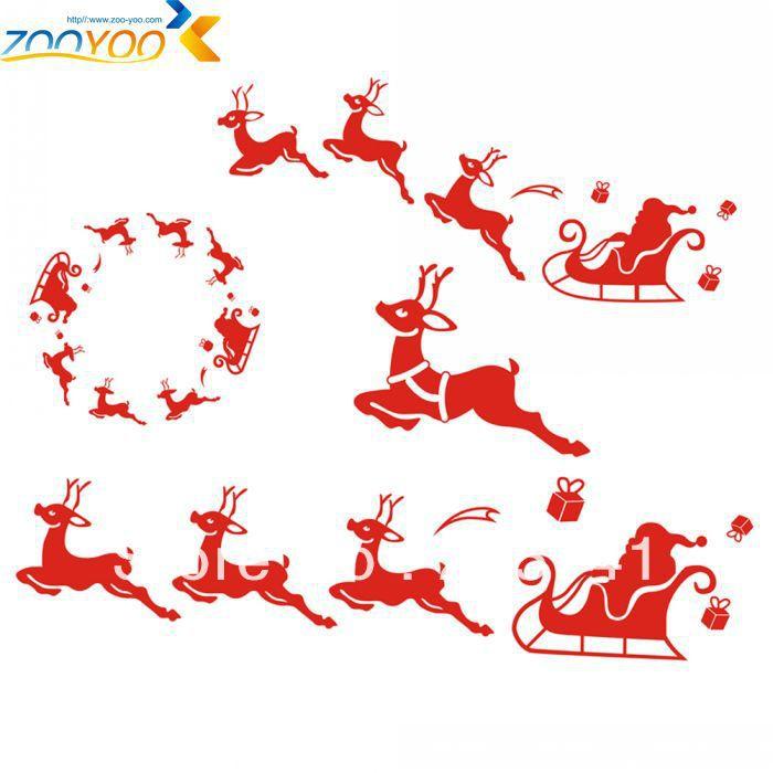 Zooyoo Santa Claus All A Good Night Christmas Wall