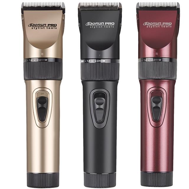 Baorun Профессиональная машинка для стрижки волос Беспроводные и Перезаряжаемые 100-240 В машинки для стрижки волос триммер электрический бритва