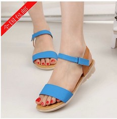 2014 summer sandals cow muscle female outsole casual flat heel soft - Happiness Share store
