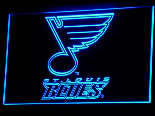 b101 St. Blues Hockey Bar LED Neon Light Signs Wholesale Dropshipping On/ Off Switch 7 colors DHL(China (Mainland))