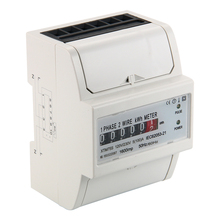 230V 5 100 A AC power meter SO Electricity KWH Meter DIN Rail LCD BI104