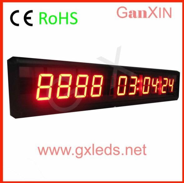 mini countdown timer countdown bar counter small led digital clock car sign(China (Mainland))