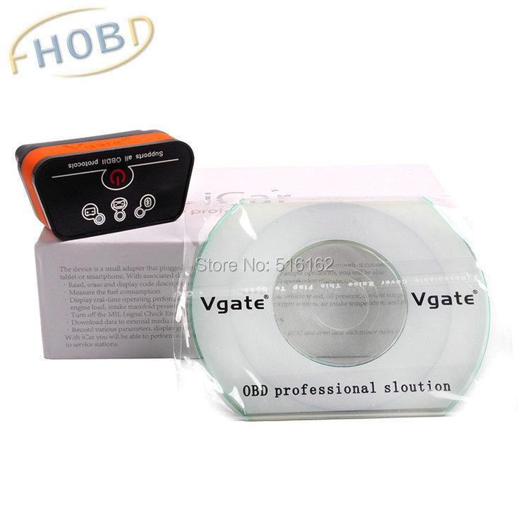 New Arrival Original Vgate iCar2 icar 2 Bluetooth ELM327 OBD2 Scanner For Android Code Reader Diagnostic Tool(China (Mainland))