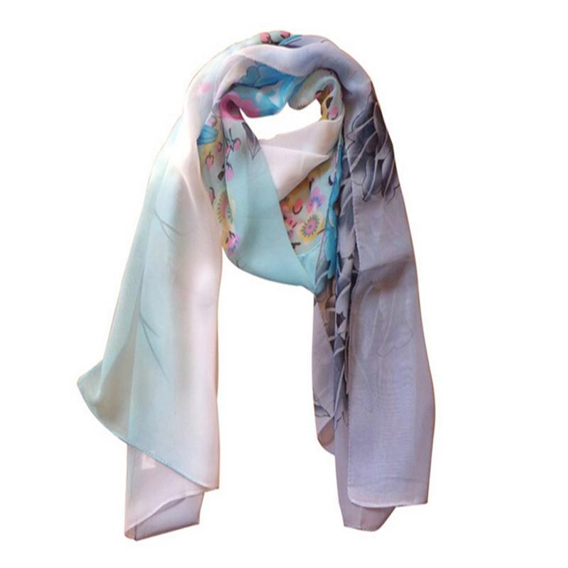 160 50cm Free shipping new 2015 long Korean fashion flower print chiffon scarf women winter scarves