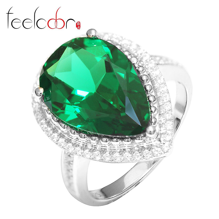 luxury 4 98ct nano russian emerald ring classic
