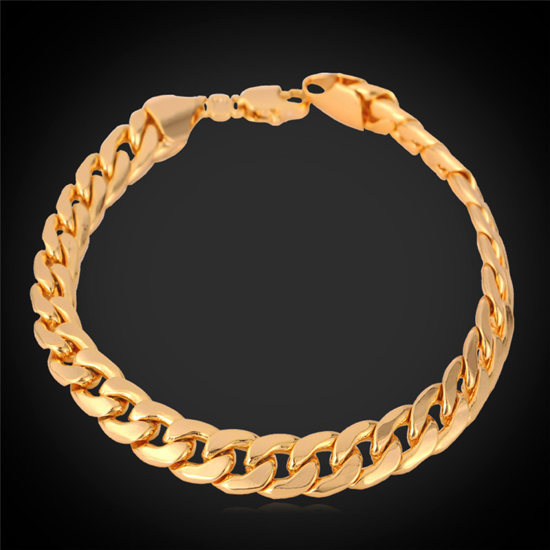 gold bracelet for new trendy 18k real gold plated