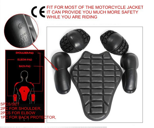 Free shipping 5PCs Motorcycle armor protector soft elbow/knee pads back pads high quality<br><br>Aliexpress